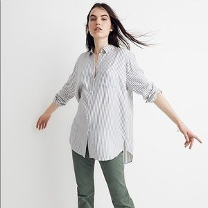 MADEWELL Oversized Striped Button Up